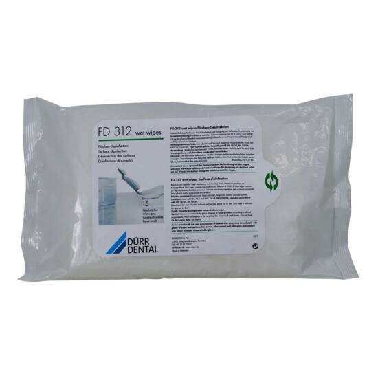 Dürr FD 312 Wet Wipes alkoholmentes 22x42cm 15db/cs.