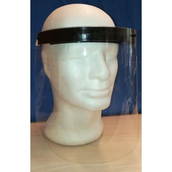 Arcvédő maszk fekete fejpánttal 28,5x22cm
