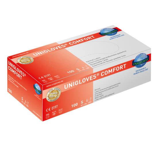 Kesztyű latex púdermentes Comfort XS 100db