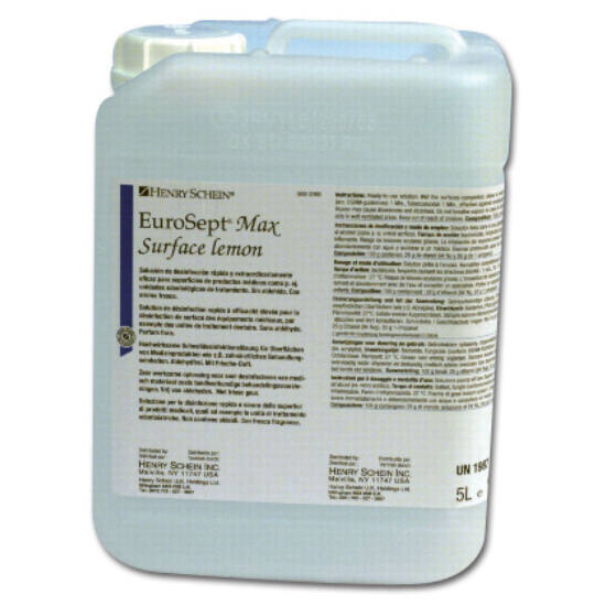 EuroSept Max Surface Lemon 5l felületfertőtl.használatra kész aldehidmentes oldat HS