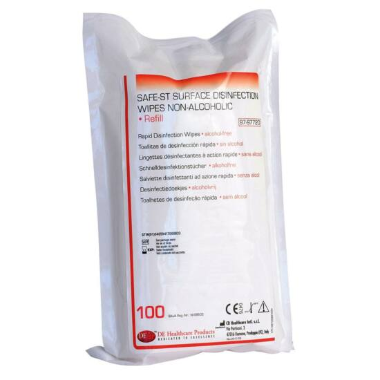 Safe-ST Surface Wipes alkoholment. 14x20cm 100db