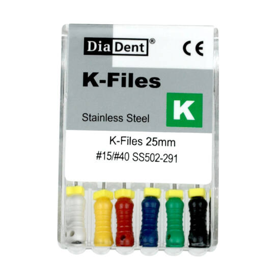 K-Files 25mm 08 szürke 6db Diadent