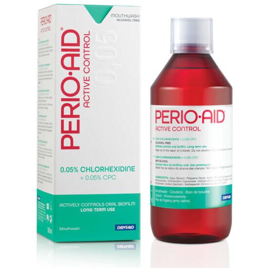 Perio Aid Active Control 0,05% szájöblítő zöld 500ml (32190)