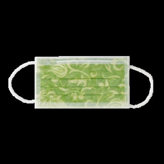 Arcmaszk Monoart Protection 3 FLORAL virágmintás 50db lime