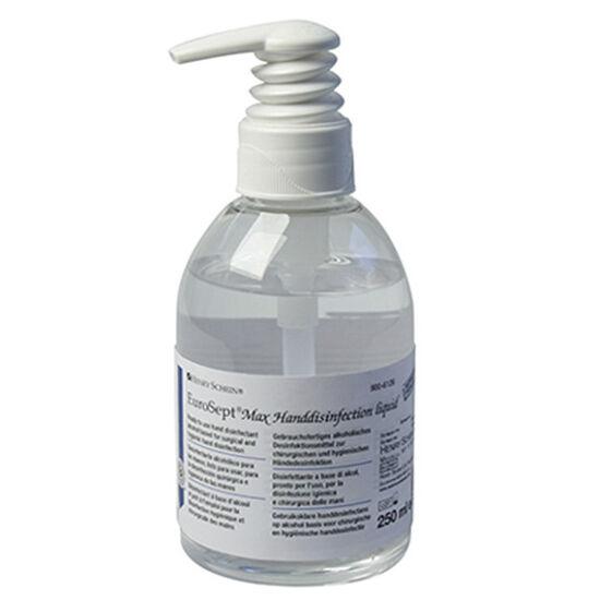 Eurosept Max seb.kézfertőtlenítő foly.250ml haszn.kész alkoholos adagoló pumpával HS
