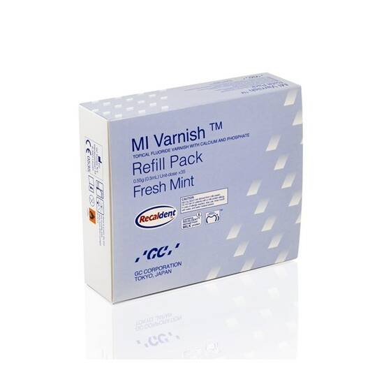 GC MI Varnish Refill pack Mint 35 unit doses/0,50ml/50 brushes
