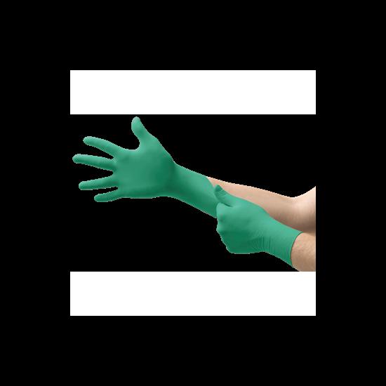 Kesztyű Nitril Touch N Tuff zöld púderes 7,5-8 100db