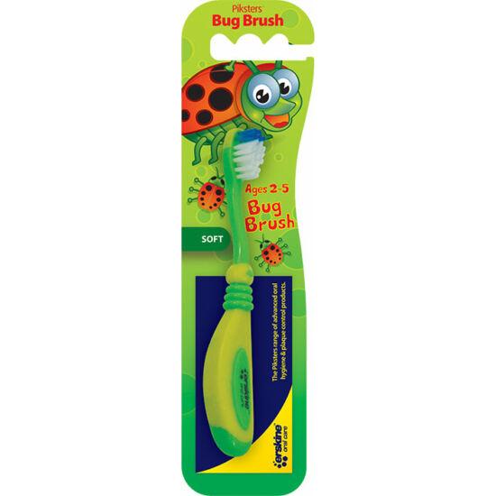 AKCIÓ - Piksters fogkefe bogaras Bug Brush (2-5 éves) (fogínyvédő gumis bevonattal) 3+1